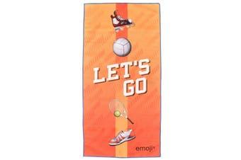 Emoji Microfibre Sports Towels (Set Of 2) (Blue/Orange) (One Size)