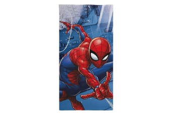 Spider-Man Ultimate Beach Towel (Blue) (One Size)