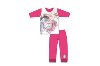 Winnie The Pooh Girls Eeyore And Piglet Pyjama Set (Pink) (7-8 Years)