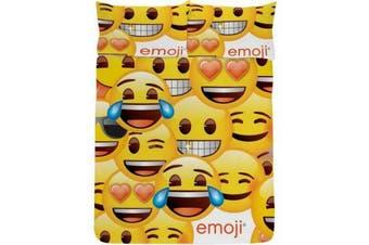 Emoji Smiley Face Duvet Cover Set (Yellow) (Double)