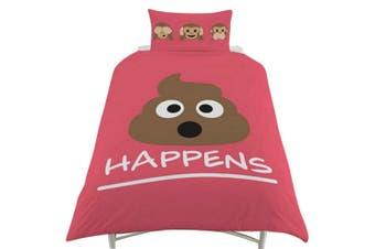 Emoji Reversible Duvet Cover Set (Pink) - UTSI705