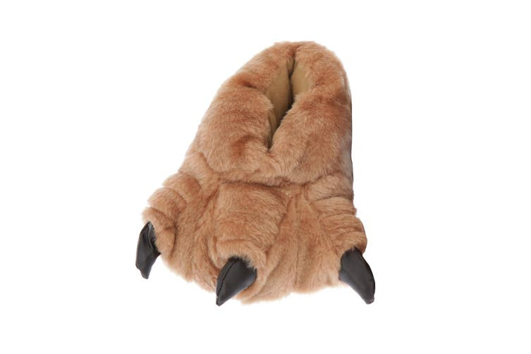 Childrens/Kids Monster Feet Design Indoor Slippers (Brown) (UK Shoe 13-1, EUR 32-33)