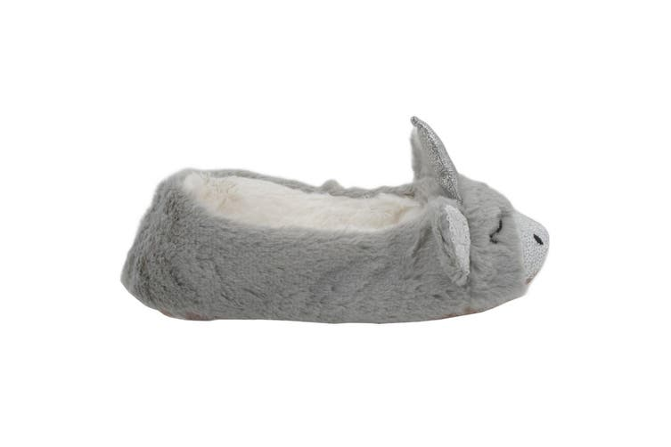 Slumberzzz Womens/Ladies Sequined Unicorn Slippers (Grey) (5-6 UK | 38-39 EU)