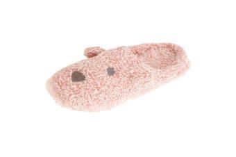 Slumberzzz Womens/Ladies Marl Bear Slippers (Marl Pink) (5-6 UK)