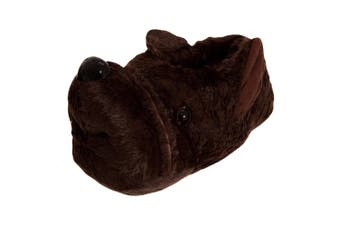 Slumberzzz Mens Dog Slippers (Brown) - UTSL719