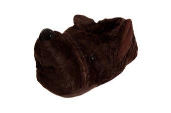 Slumberzzz Mens Dog Slippers (Brown) (9-10 UK)