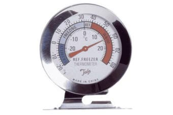 Brannan Fridge Freezer Dial Thermometer (Silver) (5cm)