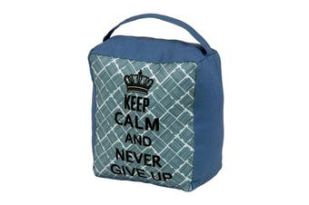 SupaHome `Keep Calm and Never Give Up` Door Stop (Blue) (One Size)