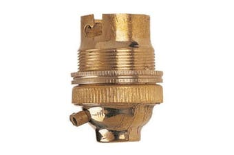Dencon BC Brass Lampholder With Earth (Gold) (0.5in)