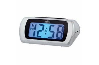 Acctim Auric LCD Clock (Silver) (One Size)