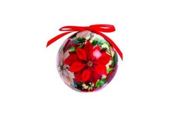 Premier Decoupage Christmas Bauble (Red) (One Size)