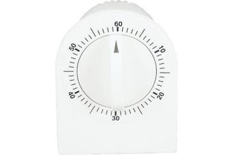 Chef Aid Mechanical Kitchen Wind Up Timer (White) (One Size)