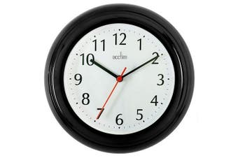 Acctim Wycombe Wall Clock (Black) (One Size)