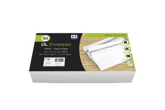 Anker DL Peel & Seal Envelopes (Pack of 50) (White) (11 x 22cm)