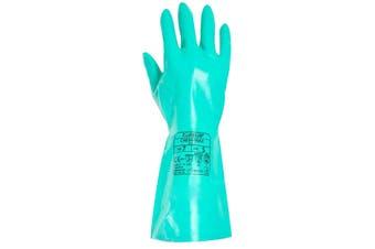 Aurelia Unisex Adults Chem Max Nitrile Chemical Gauntlet Rubber Glove (Turquoise) - UTST2857