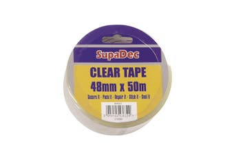 SupaDec Clear Tape (Clear) (50m x 4.8cm)