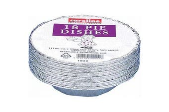 Caroline Disposable Pie Dish (Pack of 18) (Silver) (One Size)