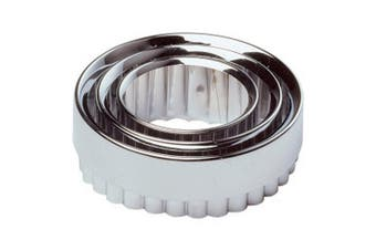 Chef Aid Pastry Cutters (Pack Of 3) (Silver) (One Size)