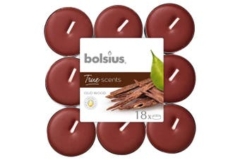 Bolsius True Scents Tealights (Pack of 18) (Oud Wood) (One Size)