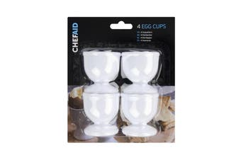 Chef Aid Egg Cups (Pack of 4) (White) (One Size)