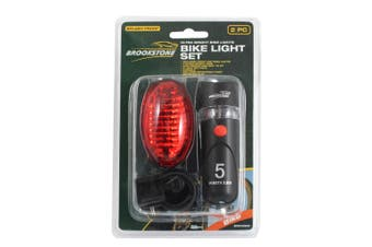 Brookstone Bike Light Set (2 Pieces) (Red/Black) (One Size)