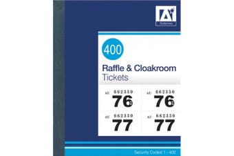 Anker Raffle And Cloakroom Tickets (Pink/Black) (11 x 14cm)