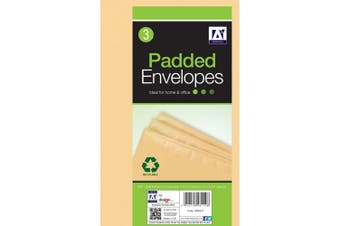 Anker Padded Brown Envelopes (Pack of 3) (Brown) (One Size)