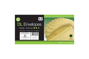 A Star DL Gummed Manilla Envelopes (Pack of 30) (Brown) (One Size)