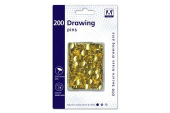 Anker Drawing Pins In Hardcase (Pack of 200) (Gold) (One Size)