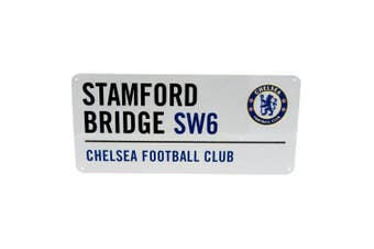 Chelsea FC Official Street Sign (White) (One Size)