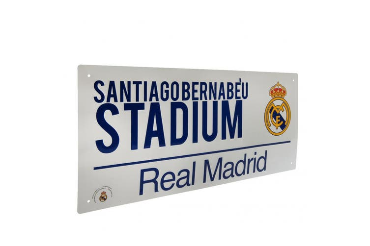 Real Madrid FC Official Street Sign (White) (One Size)