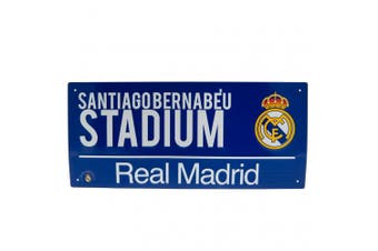 Real Madrid FC Official Street Sign (Blue) (One Size)