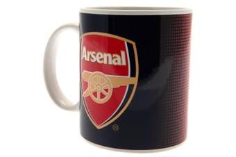 Arsenal FC Fade Design Ceramic Mug In Printed Card Box (Navy/Red/White) (9 x 8cm)