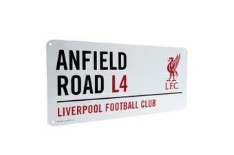 Liverpool FC Official Street Sign (White) (One Size)
