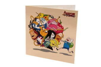 Adventure Time Character Birthday Card (Multicoloured) (One Size)