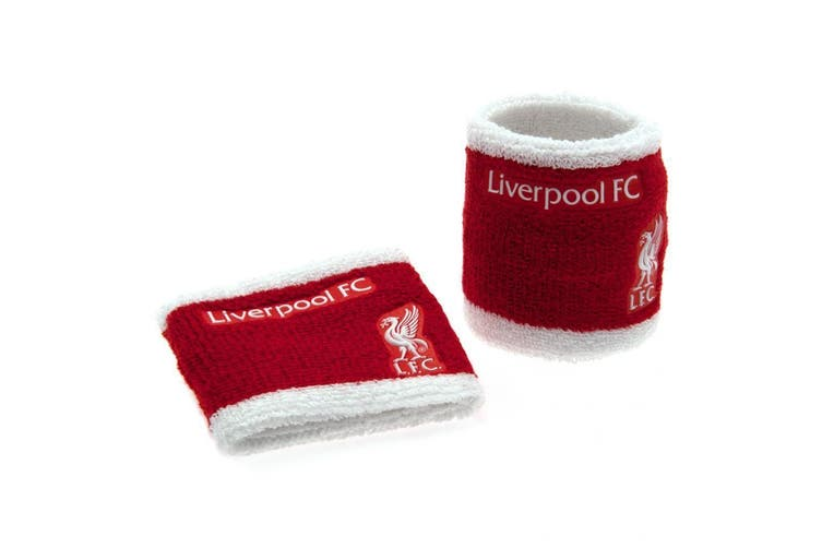 Liverpool FC Official Wristbands (Set Of 2) (Red/White) (One Size)