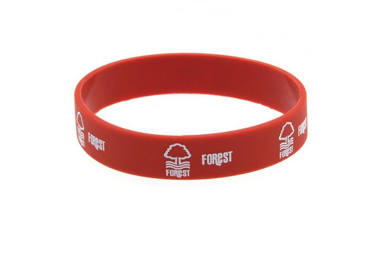 Nottingham Forest FC Official Silicone Wristband (Red) (One Size)