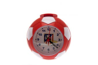 Atletico Madrid FC Football Alarm Clock (Red/White) (9 x 9cm)