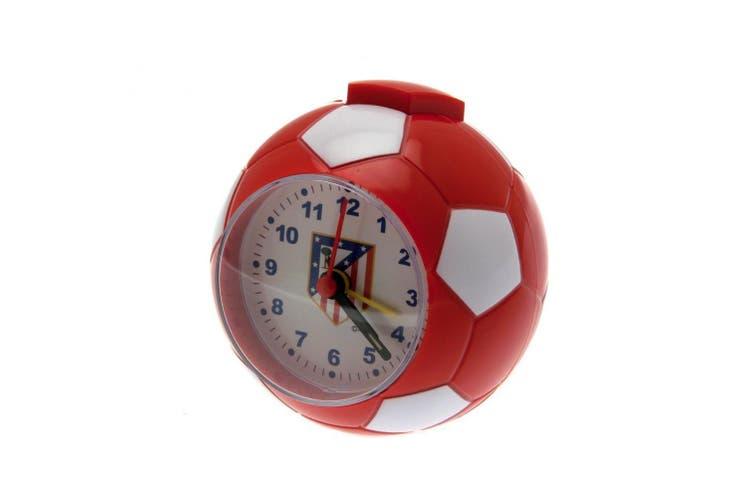 Atletico Madrid FC Football Alarm Clock (Red/White) (9 x 9cm)