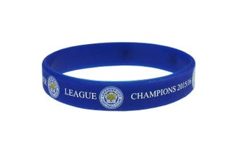 Leicester City FC Official Champions Silicone Wristband (Blue) (One Size)
