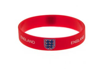 England FA Official Silicone Wristband (Red) (One Size)