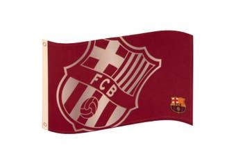 FC Barcelona Large Crest Flag (Maroon) (One Size)