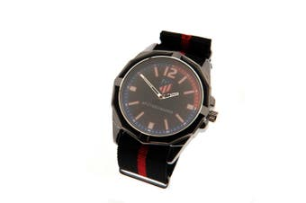 Atletico Madrid FC Mens Watch (Black/Red) (One Size)
