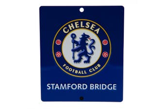 Chelsea FC Official SQ Window Sign (Blue) (One Size)
