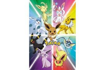 Pokemon Eevee Evolution Poster (Multicoloured) (One Size)