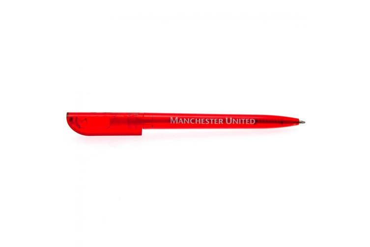 Manchester United FC Official Retractable Pen (Red) (One Size)