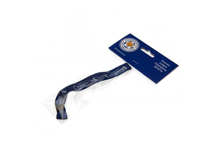 Leicester City FC Champions Festival Wristband (Blue) (One Size)