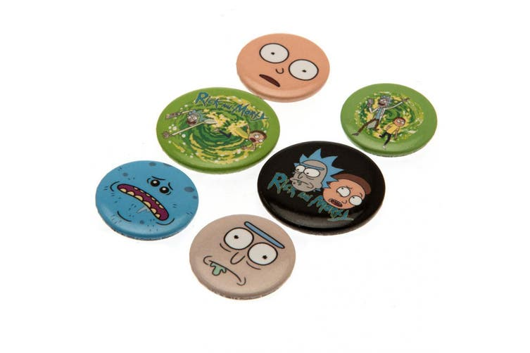 Rick And Morty Portal Button Badge Set (Multicoloured) (One Size)