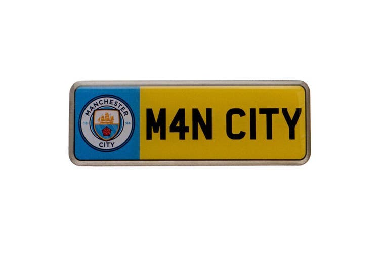 Manchester City FC Number Plate Badge (Multicoloured) (One Size)