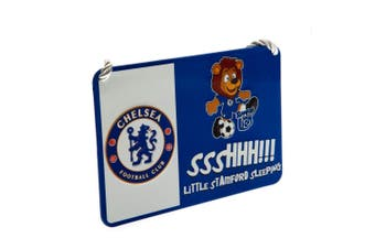 Chelsea FC Official Mascot Bedroom Sign (White/Blue) (One Size)